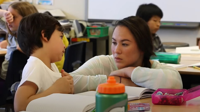 University of Oregon College of Education UOTeach student teaching children in a classroom